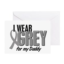 I Wear Grey For My Daddy 10 Greeting Card