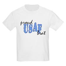 cp proud usaf brat blue T-Shirt