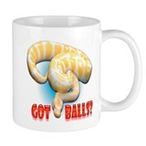 ALBINO PYTHON GOT BALLS Small Mugs