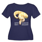 ALBINO PYTHON GOT BALLS Women's Plus Size Scoop Ne