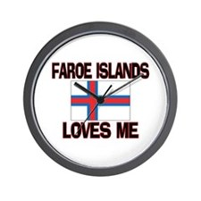 Faroe Islands Loves Me Wall Clock