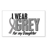 I Wear Grey For My Daughter 10 Rectangle Decal
