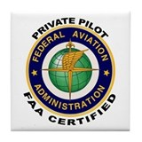 FAA Certified Private Pilot Tile Coaster