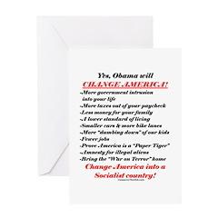 """Obama Will Change America"" Greeting Card"