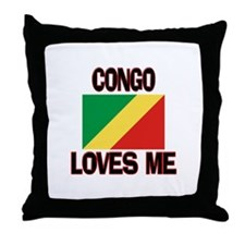 Congo Loves Me Throw Pillow
