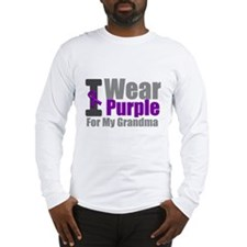 I Wear Purple (Grandma) Long Sleeve T-Shirt