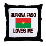 Burkina Faso Loves Me Throw Pillow