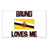 Brunei Loves Me Rectangle Decal