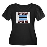 Botswana Loves Me Women's Plus Size Scoop Neck Dar