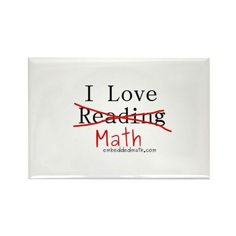 I love Math - Rectangle Magnet (100 pack)