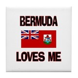 Bermuda Loves Me Tile Coaster