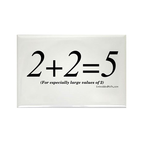 2+2=5 - Rectangle Magnet (100 pack)