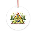Masonic Acacia & Pyramid Keepsake (Round)