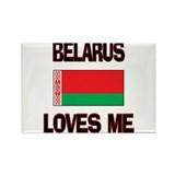 Belarus Loves Me Rectangle Magnet (10 pack)