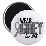 "I Wear Grey For ME 10 2.25"" Magnet (100 pack)"