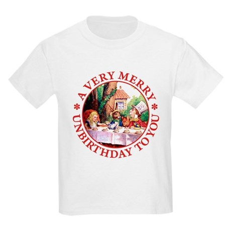 A VERY MERRY UNBIRTHDAY TO YOU Kids Light T-Shirt