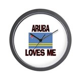 Aruba Loves Me Wall Clock