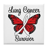 Lung Cancer Survivor Tile Coaster