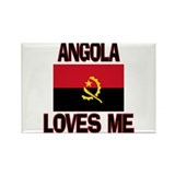 Angola Loves Me Rectangle Magnet (10 pack)