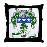 Kyd Family Crest Throw Pillow