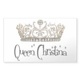 Queen Christina Rectangle Decal