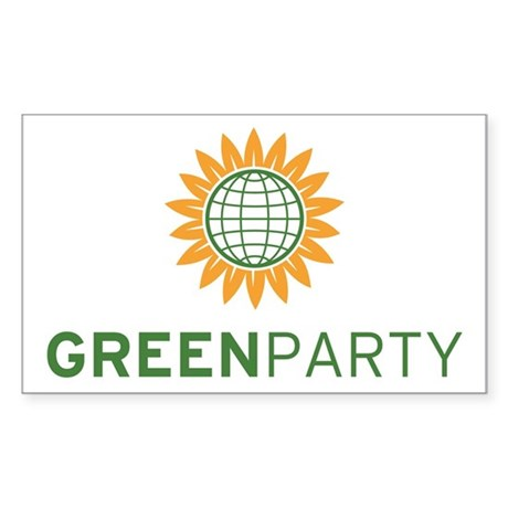 Green Party Logo (global) Rectangle Decal by greenpartystore
