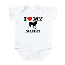I love my mastiff Infant Bodysuit