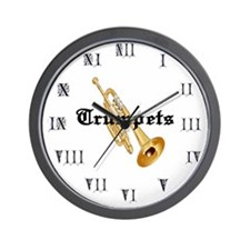 Joe's Trumpets Wall Clock