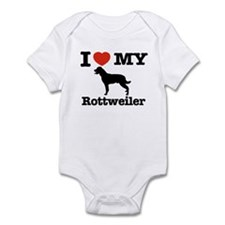 I love my Rottweiler Infant Bodysuit