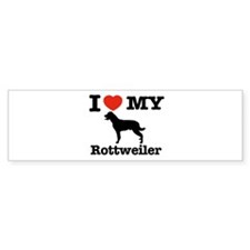 I love my Rottweiler Bumper Sticker (50 pk)
