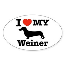 I love my Weiner Oval Decal