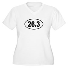 26.3 Womes Plus-Size V-Neck T-Shirt