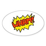 'Wham!' Oval Decal