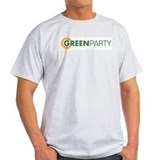 Green Party Logo (sunflower)  Ash Grey T-Shirt