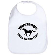 Mustangs Run Free Bib