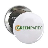 Green Party Logo (sunflower) 2.25&quot; Button (10 pac