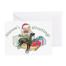 Chinese Crested Christmas Greeting Card