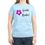 Girls Rule Women's Light T-Shirt