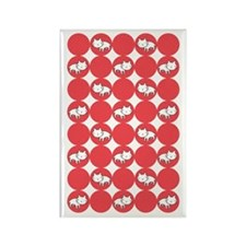 Kitty Cat Polka Dots Rectangle Magnet