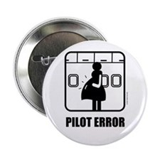 "*NEW DESIGN* Pilot Error 2.25"" Button (10 pack)"
