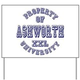 Property of Ashworth University XXL Yard Sign