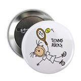 "Tennis Rocks! 2.25"" Button"