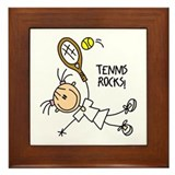 Tennis Rocks! Framed Tile