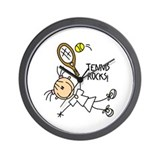 Tennis Rocks! Wall Clock