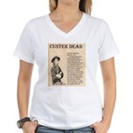 General Custer Women's V-Neck T-Shirt