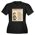 General Custer Women's Plus Size V-Neck Dark T-Shi