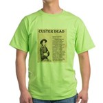 General Custer Green T-Shirt