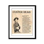 General Custer Framed Panel Print