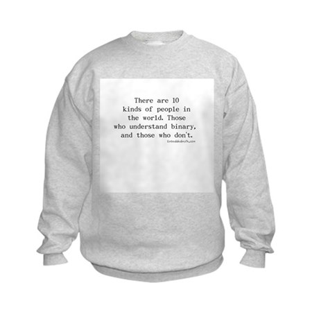 Binary Joke - Kids Sweatshirt