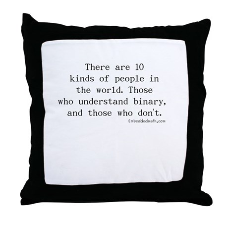 Binary Joke - Throw Pillow
